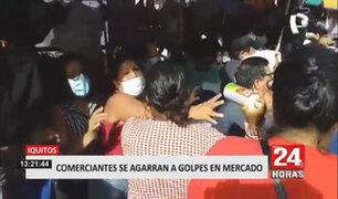 Iquitos: dos mujeres ambulantes se agarran a golpes por un puesto en mercado