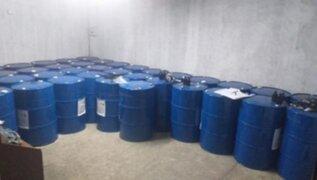 Puente Piedra: PNP incautó 50 toneladas de insumos químicos para elaborar droga