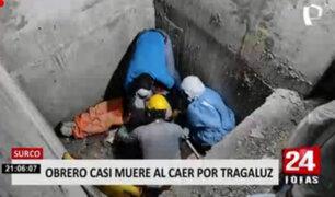 Surco: obrero quedó herido tras caer por tragaluz
