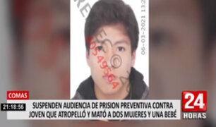 Suspenden por segunda vez audiencia contra joven que atropelló a dos mujeres y una bebe en Comas
