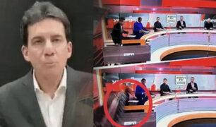 Pantalla gigante le cae encima a periodista de ESPN en Colombia