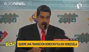 Joe Biden coordina presión internacional para transición a la democracia en Venezuela