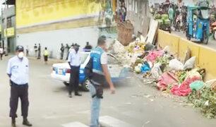 Por operativo contra ambulantes se registra congestión vehicular en la avenida Nicolás Ayllón