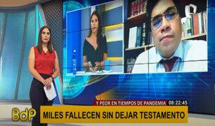 Sunarp: miles fallecen por COVID-19, pero solo el 5% de peruanos deja testamento