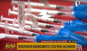 Escándalo en Hollywood: trabajadores reservaron citas de manera indebida para vacunarse