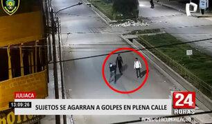 Juliaca: joven armado y su compañero inician pelea con otros dos en la vía pública