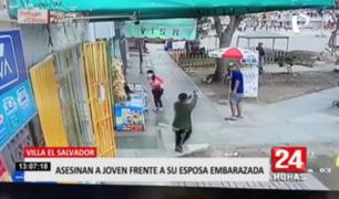 Asesinan  a joven frente a su esposa embarazada en Villa El Salvador