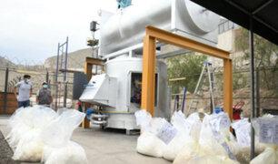 Mininter: más de 20 toneladas de droga fueron destruidas en primera incineración del año
