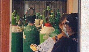 PNP halló 150 balones de oxígeno en vivienda de Comas