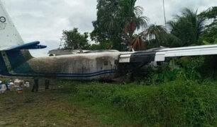 Loreto: avioneta de la FAP se despista al momento de aterrizar en aeródromo de San Lorenzo