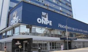 ONPE: partidos tienen hasta el 1 de julio para presentar información financiera anual