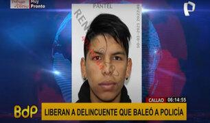 Callao: sujeto que disparó a un policía fue liberado por la Fiscalía