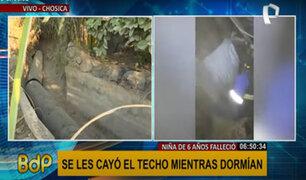 Niña muere tras caerle techo de su casa: fiscal llegó para levantamiento del cuerpo