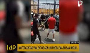 San Miguel: fiscalizadores detienen a mototaxista informal que atacó con un bate de béisbol