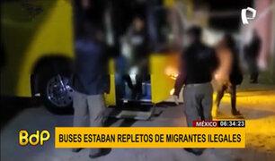 México: hallan dos buses con 210 migrantes indocumentados