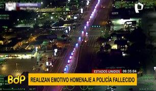 EEUU: rinden homenaje a policía que se interpuso para salvar vidas