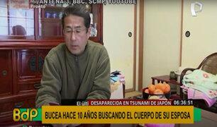 Tras tsunami en Japón: hombre bucea para encontrar restos de su esposa desde hace 10 años