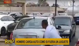 Video viral: hombre levanta vehículo de casi una tonelada con sus manos