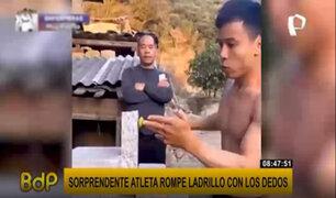 Al estilo de 'Karate Kid': joven atleta sorprende por la velocidad con que rompe un ladrillo