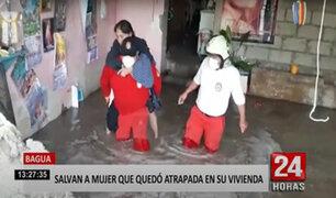Bagua: madre de familia casi muere aplastada por un muro que cedió por las lluvias