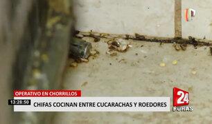 'Chifas' insalubres: operativo halló locales sucios, cocinas con insectos y sustancias cancerígenas