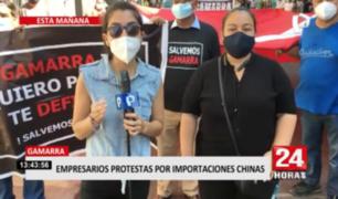 Empresarios de Gamarra protestan por importaciones chinas