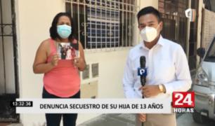 Madre denuncia el secuestro de su menor hija de 13 años en SMP