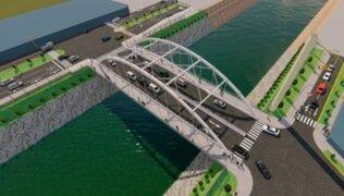 Puente Morales Duárez que unirá SMP y Carmen de la Legua presenta un 25% de avance