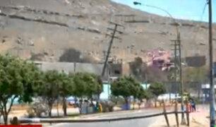 Av. Túpac Amaru: vecinos presumen que caída de postes responde a falta de mantenimiento