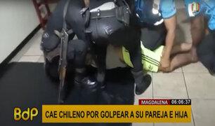 Magdalena: detienen a extranjero por agredir a su pareja y a su hija