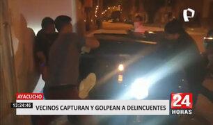 Ayacucho: vecinos agarran a golpes a ladrones y casi los queman vivos