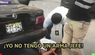 Detienen a raqueteros que se desplazaban a bordo de un vehículo en San Miguel