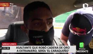 Miraflores: ladrón que robó a cliente en tienda estaría implicado en otros actos delictivos