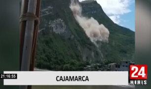 Deslizamiento de rocas y tierras destruyó varias casas en Cajamarca