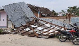 Lluvias y fuertes vientos  afectan al menos 40 viviendas en la región San Martín