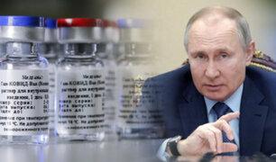 """Vladímir Putin: """"Hay una lucha por los mercados de vacunas"""""""