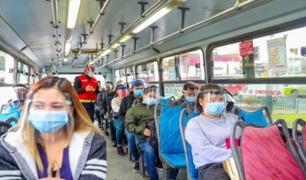 MTC asegura que el nivel de contagios en los buses interprovinciales es mínimo