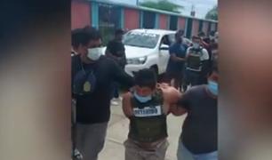 Tumbes: policía detiene a tres delincuentes que robaron 200 mil soles en grifo