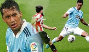 Renato Tapia jugó en empate del Celta en la liga española