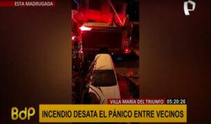 VMT: voraz incendio consumió parte de una vivienda unifamiliar