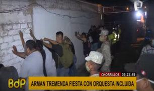Chorrillos: intervienen a más de 30 jóvenes en fiesta covid con orquesta incluida