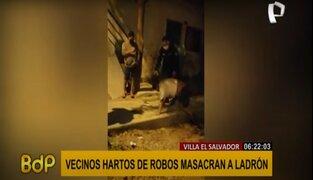 VES: vecinos cansados de constates robos masacran a delincuente