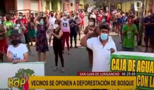 SJL: vecinos presentan acción de amparo para detener deforestación de bosque