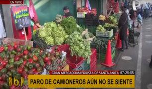 Mercado de Santa Anita abastecido: piden no elevar precios ante paro de camioneros