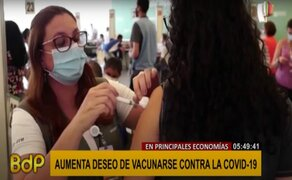 COVID-19: Deseo de vacunarse aumenta a nivel mundial