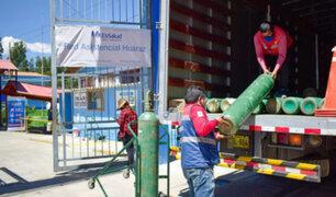 EsSalud Huaraz recibió 90 balones de oxígeno medicinal  para atender a pacientes con Covid-19