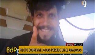 Piloto sobrevive 36 días perdido en el Amazonas