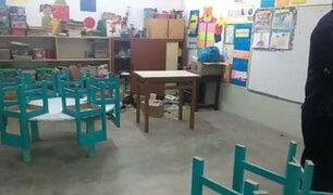 Padres indignados: roban útiles escolares  de un colegio primario de Jicamarca