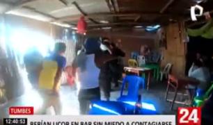 Tumbes: clausuran bar clandestino donde bebían más de 40 personas