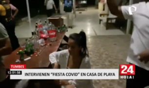 Tumbes: intervienen 'fiesta covid' en casa de playa
